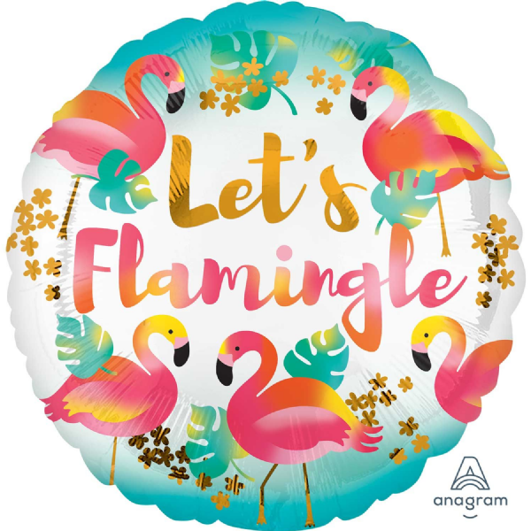 Let's Flamingle Standard Foil Balloon